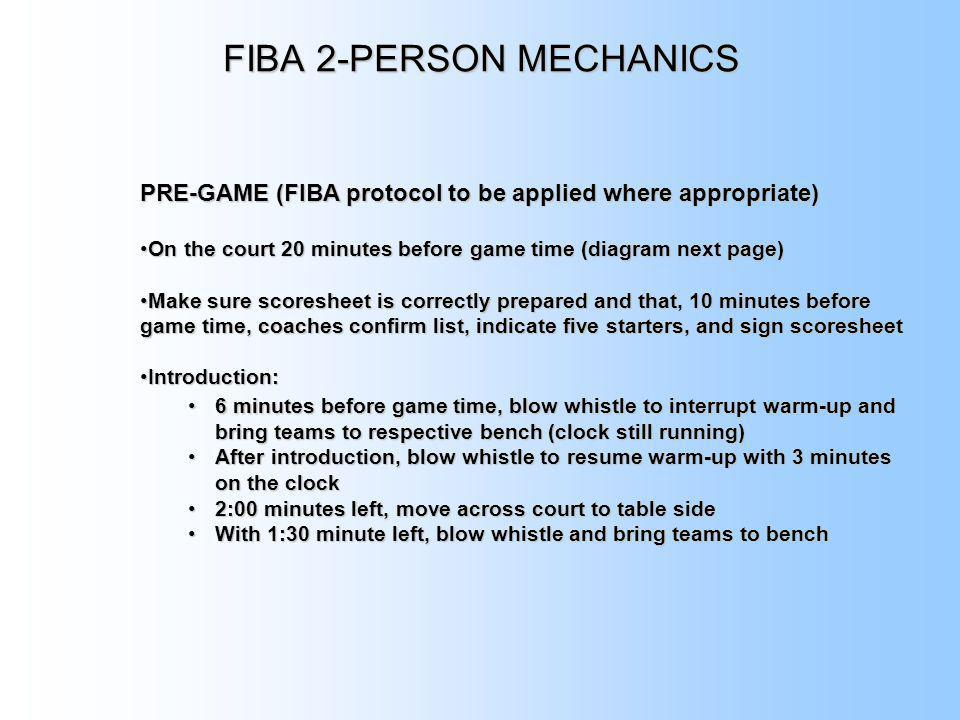 FIBA 2-PERSON MECHANICS
