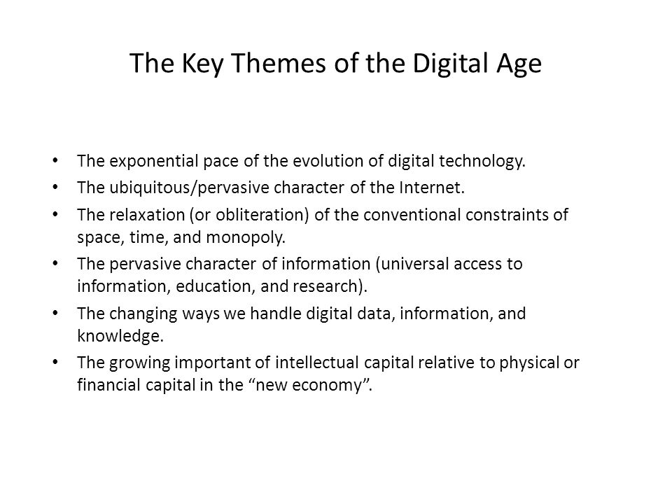 Technology for school leaders part 1 ppt download the key themes of the digital age fandeluxe Image collections