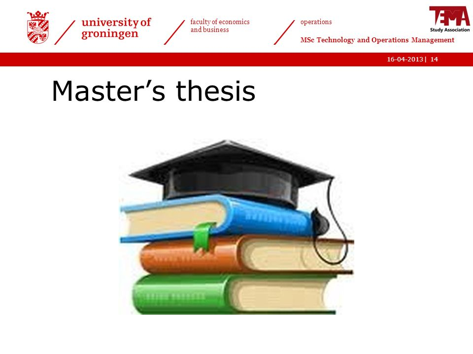 Requirements for the Master's Degree
