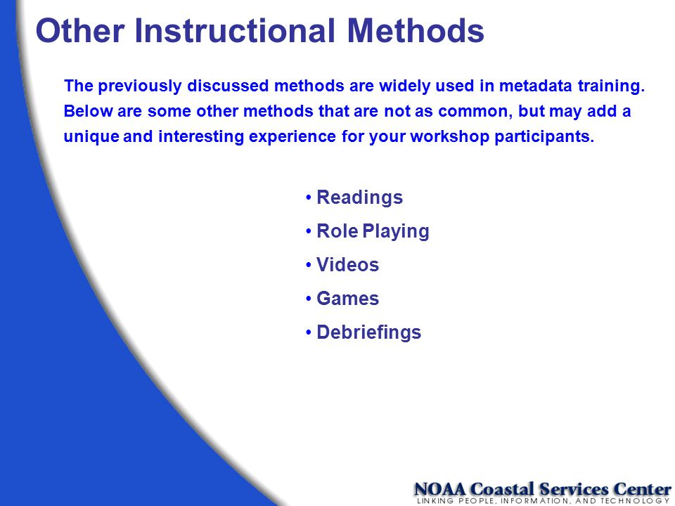 Other Instructional Methods