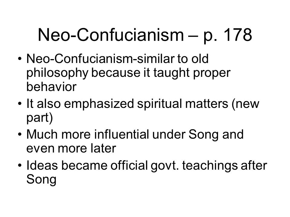 neo confucianism 2 essay Read this essay on confucianism come browse our large digital warehouse of free sample essays get the knowledge you need in order to pass your classes and more.