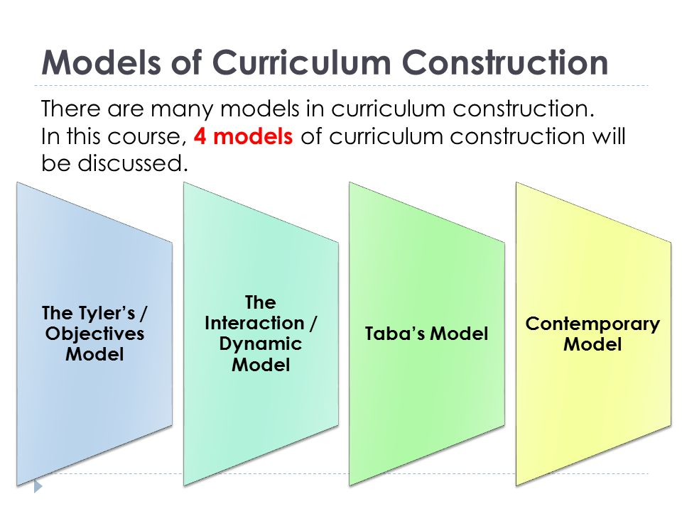 Models of Curriculum Construction