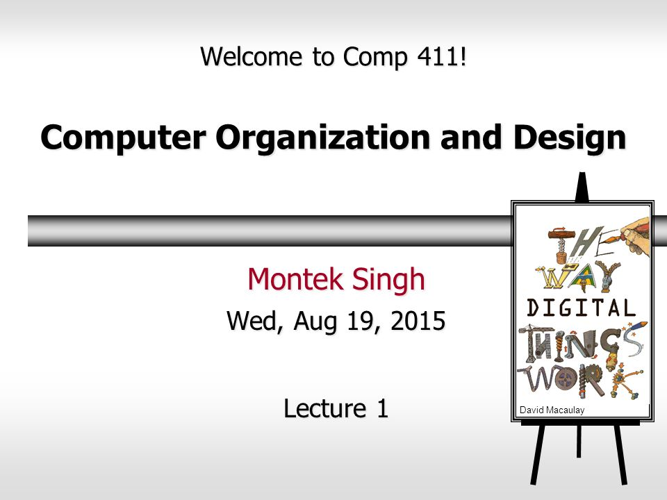 Welcome To Comp 411 Computer Organization And Design Ppt Video Online Download