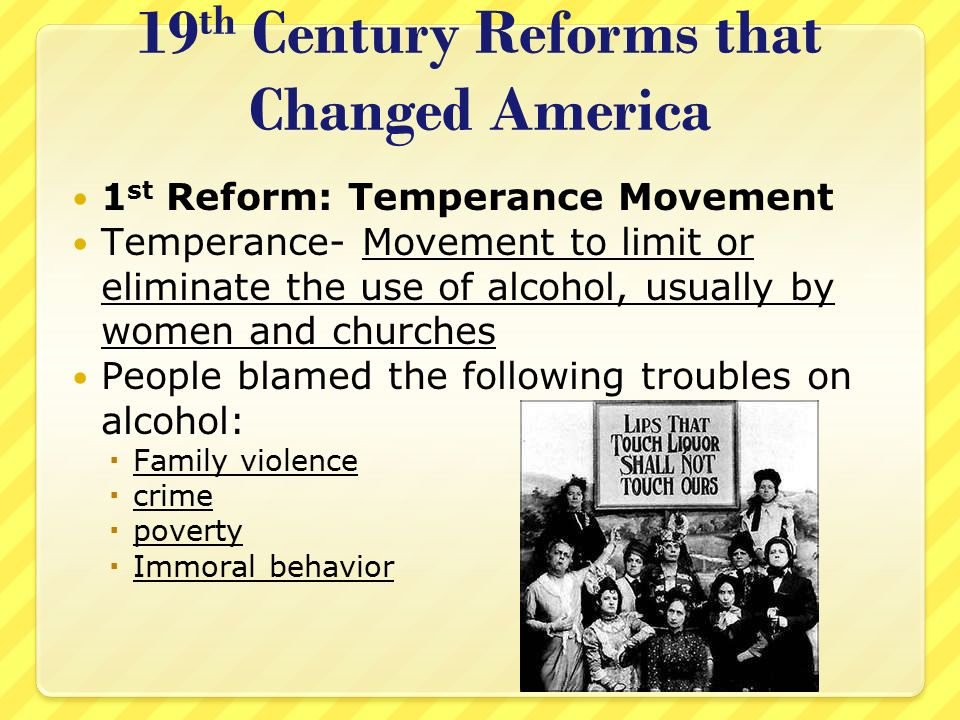 19th Century Reforms that Changed America