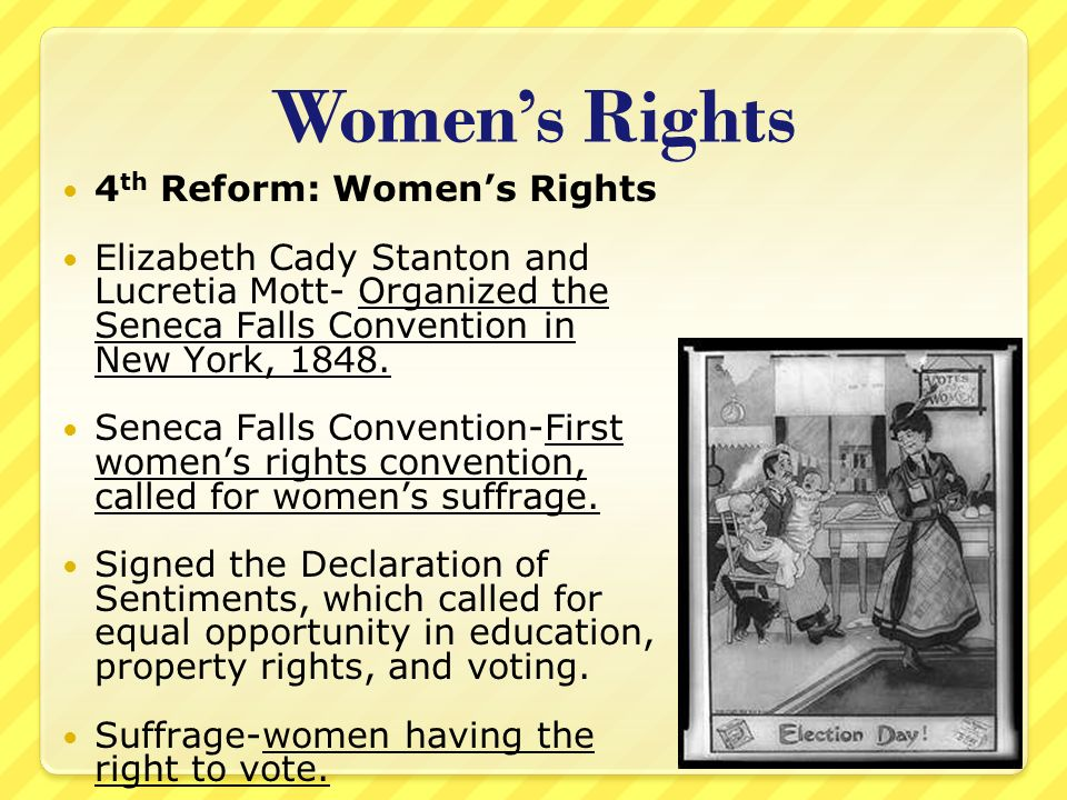 Women's Rights 4th Reform: Women's Rights