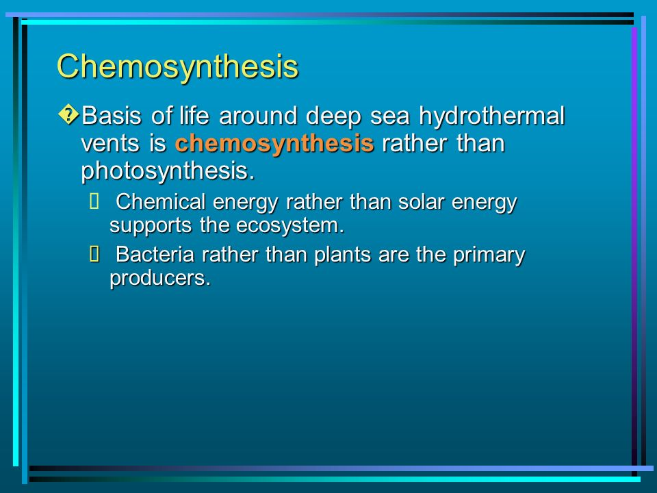 chemosynthesis in deep sea vents Deep sea bloggerhead  formation, and chemosynthesis of hydrothermal vents  geology, geography, formation, and chemosynthesis.