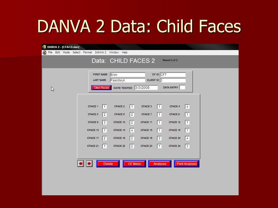 DANVA 2 Data: Child Faces
