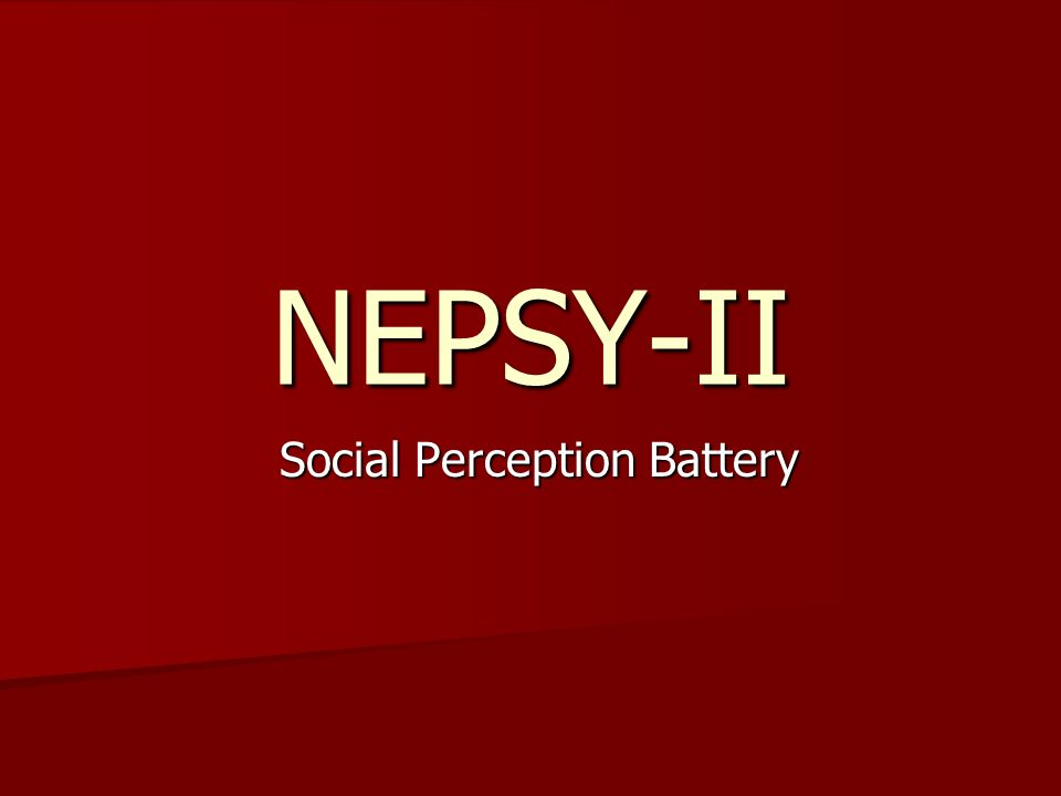 Social Perception Battery