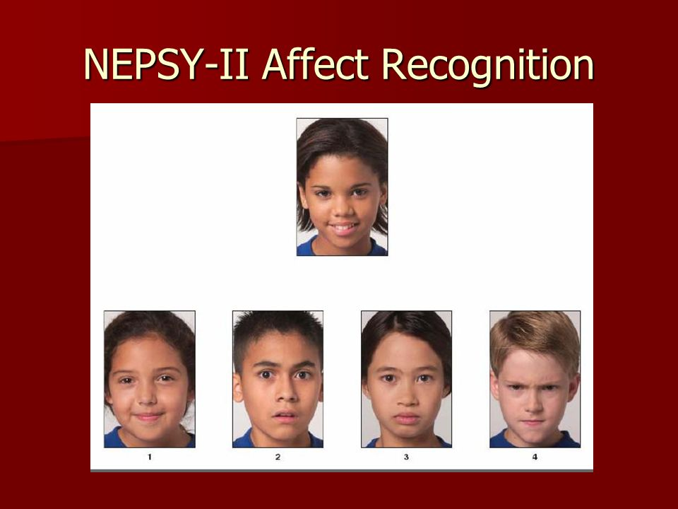 NEPSY-II Affect Recognition