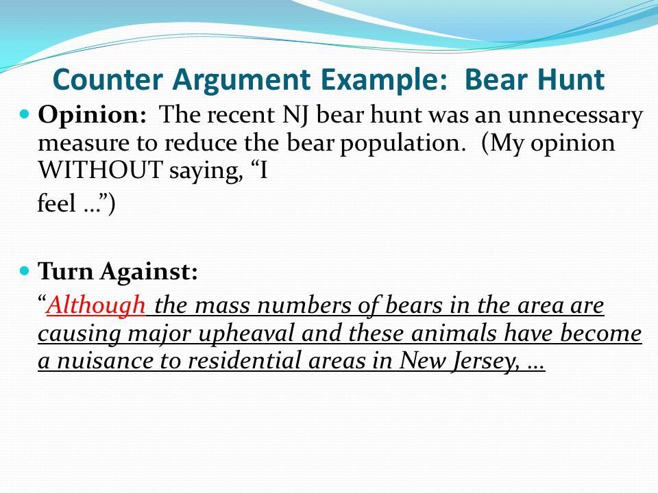 Counter Argument Example: How to Write an Rebuttal