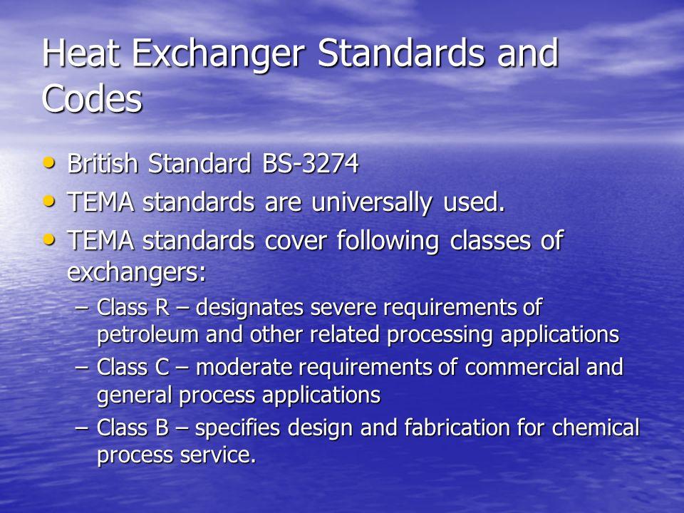 tema code for heat exchanger pdf