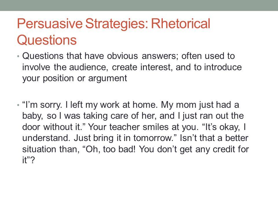 Rhetorical Questions In Essays  Barcafontanacountryinncom Can You Use Rhetorical Questions In Persuasive Essays Term Paper
