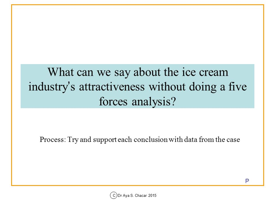 ice cream industry porter five forces The greek ice cream industry analysis based on porter's five forces vasileios antonopoulos 3.