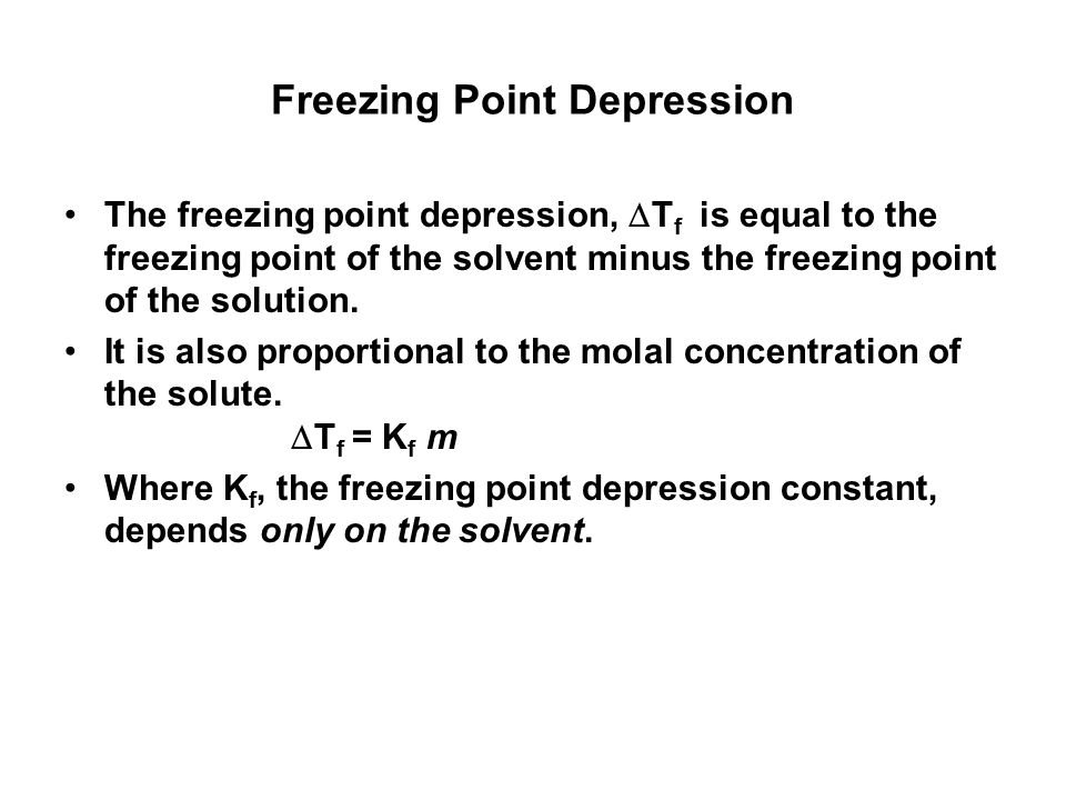 molality and freezing point relationship poems