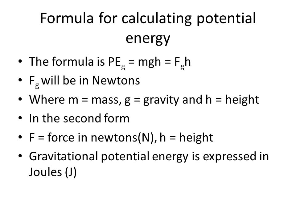 How To Calculate Energy In Joules Energy Etfs