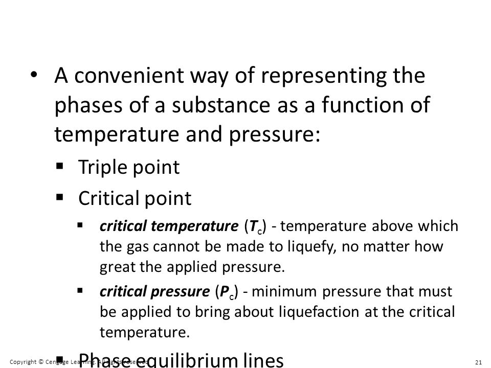 A convenient way of representing the phases of a substance as a function of temperature and pressure: