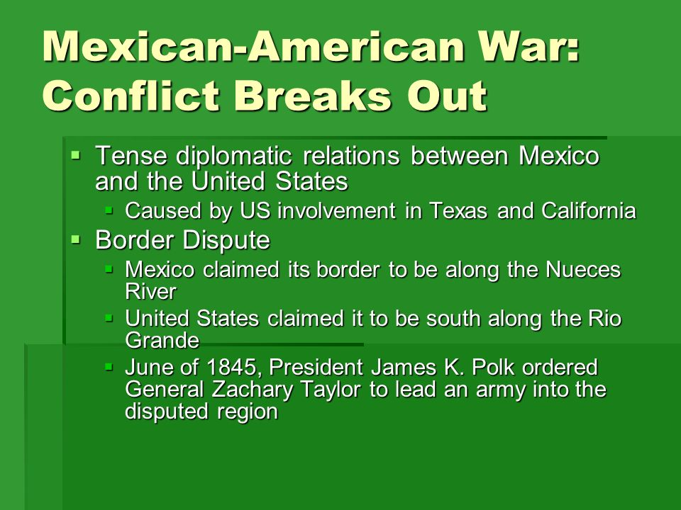 a history of the conflicts along the border between mexico and the united states Introduction the united states government asserts that construction of the border wall between texas and mexico would affect wildlife and aquatic resources by conferring only short and long term negligible to.