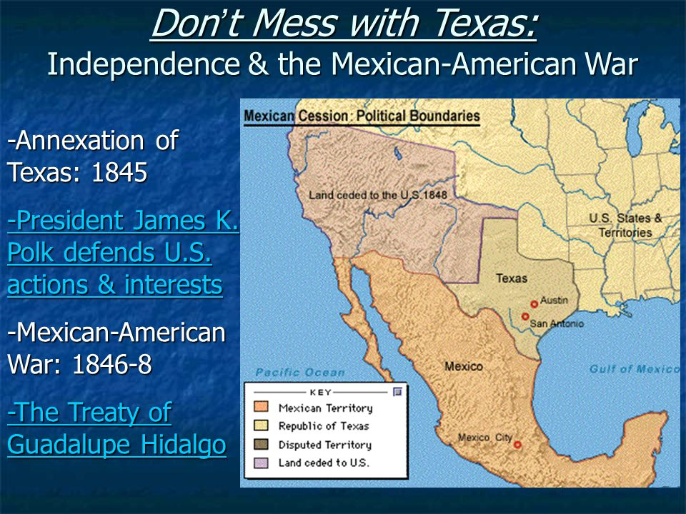 the annexation of texas by president james polk Biography of james polk,  of the campaign by declaring themselves opposed to the annexation of texas polk,  president polk added a vast area to the.