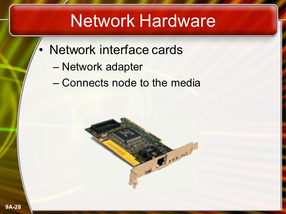 Network Hardware Network interface cards Network adapter