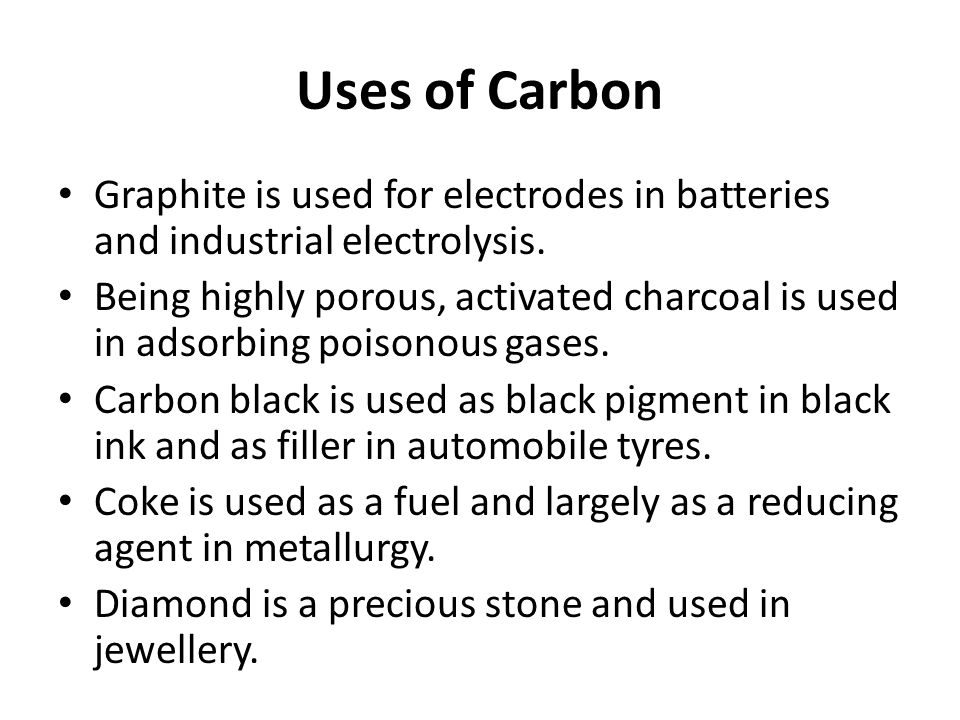 P block elements ppt video online download 50 uses of carbon sciox Images