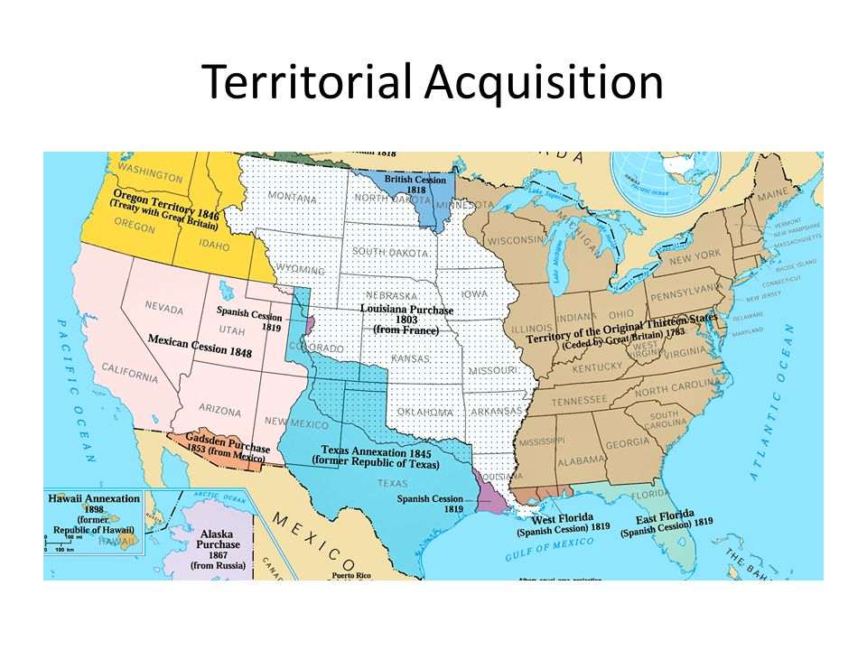 Manifest Destiny Unit Ppt Video Online Download - Map of territories acquired by the us