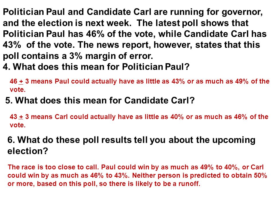 4. What does this mean for Politician Paul