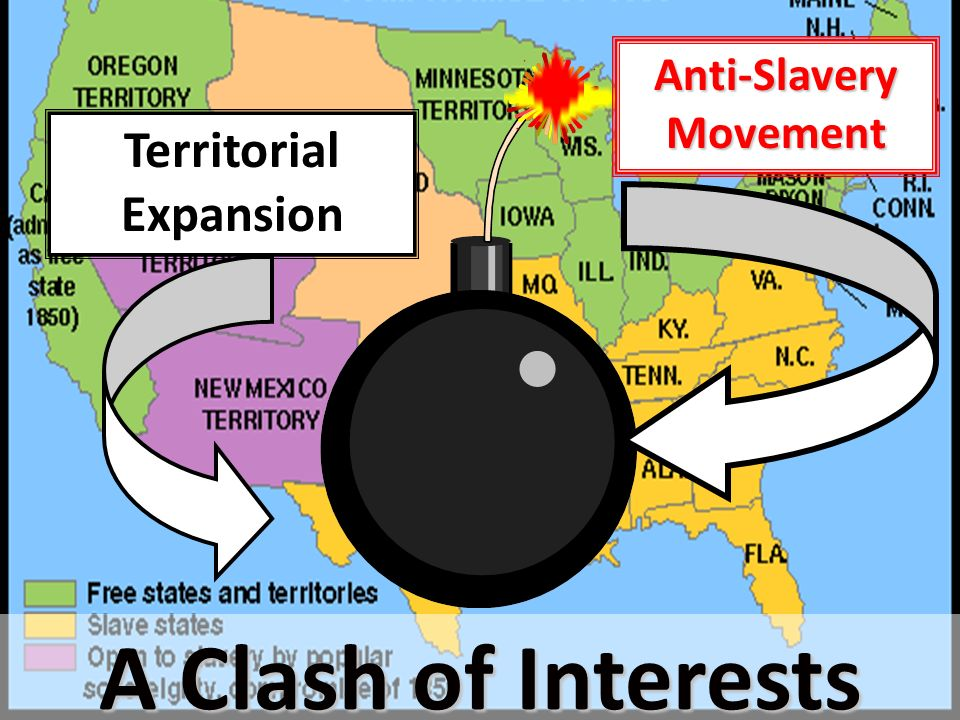 territorial expansion and slavery Slavery was also prohibited in territories belonging to the new nation under the   while prosperity came from territorial expansion, sectional harmony did not.