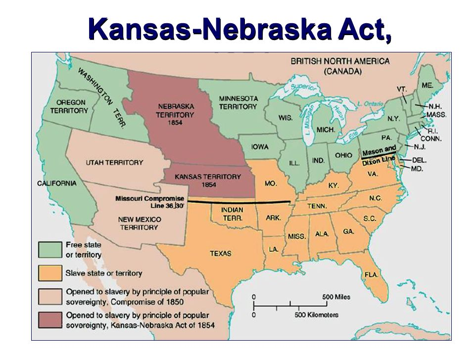 an introduction to the compromise of 1850 and kansas nebraska acts What are the missouri compromise, 1850 compromise, kansas nebraska act i am really confused between this three events in the civil war could you just quickly explain the difference between these and when they were.