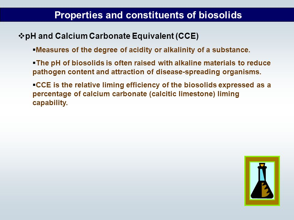 Properties and constituents of biosolids