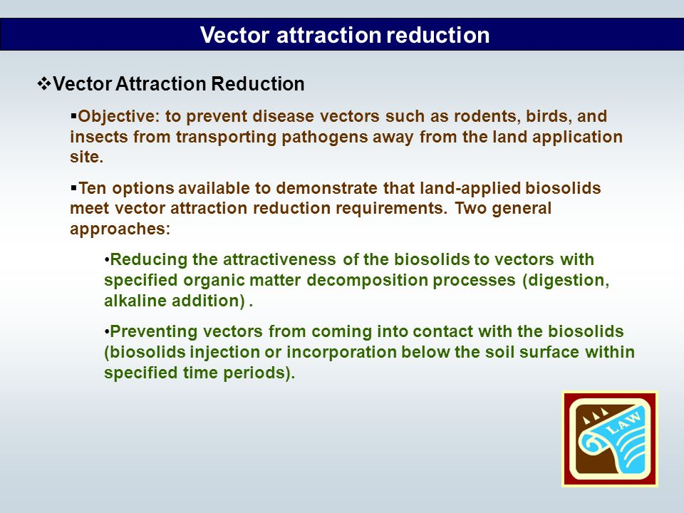 Vector attraction reduction
