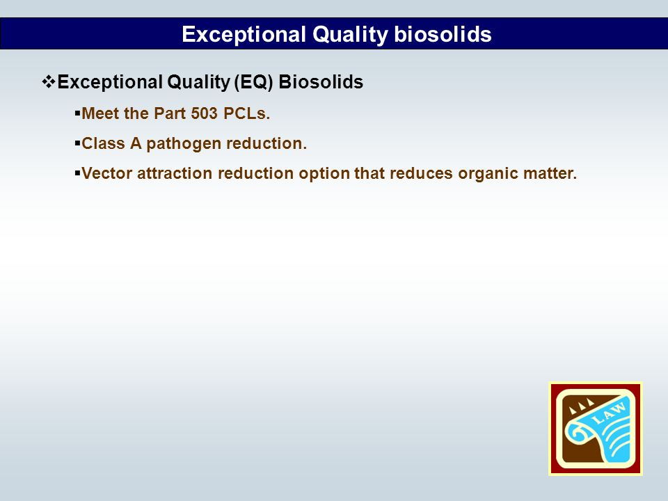 Exceptional Quality biosolids
