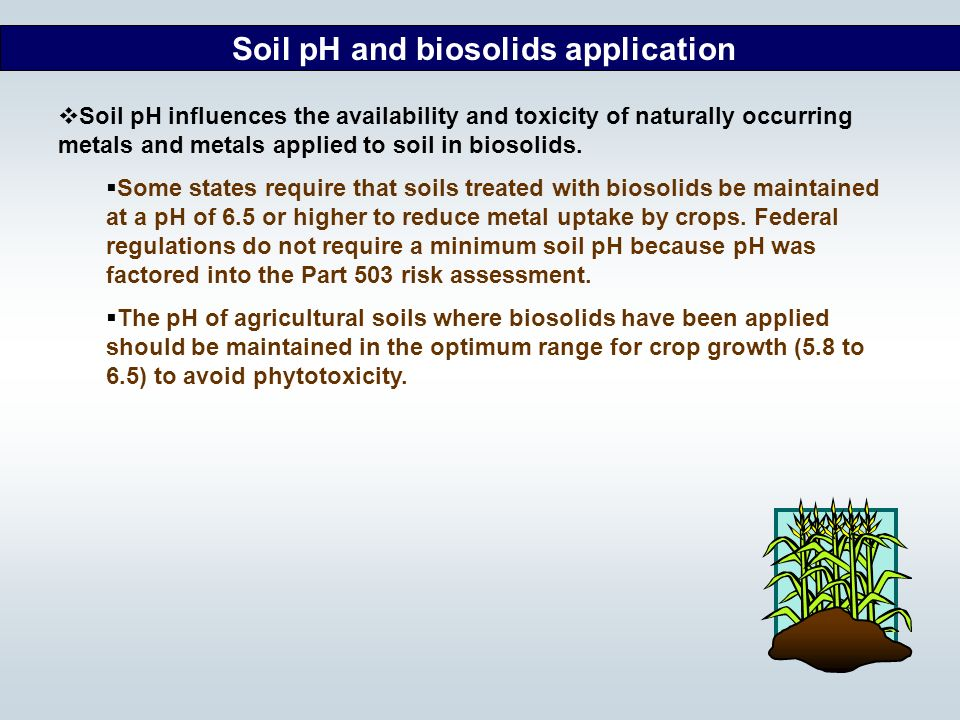 Soil pH and biosolids application