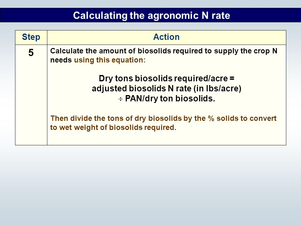 5 Calculating the agronomic N rate