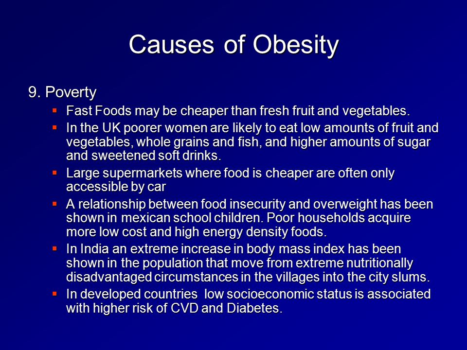relationship between childhood obesity and fast food