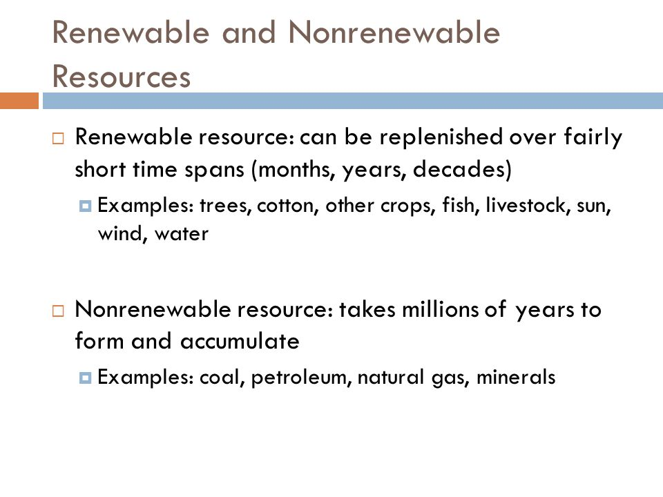 Energy and Mineral Resources ppt video online download – Renewable Vs Nonrenewable Resources Worksheet