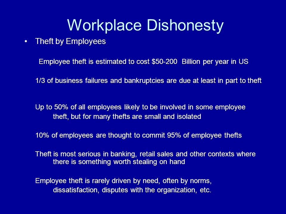 "dishonesty and the theft act But they all require an ""act"" and a ""dishonest mind"" before the offence is created  perhaps the most often encountered offence of dishonesty, theft,."