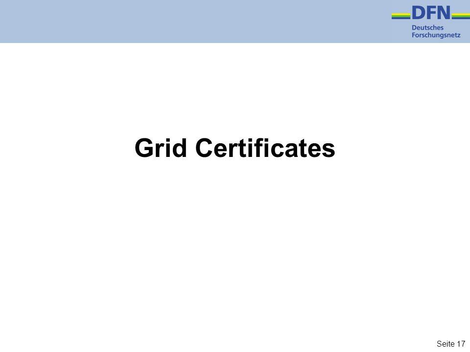 Grid Certificates