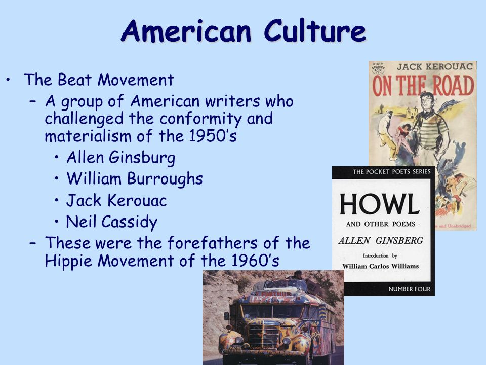 an introduction to the beat culture and movement in america The beats & sixties counterculture beats is a description of a prevailing climate of conformity in post-war america 'beat culture and the folds of.