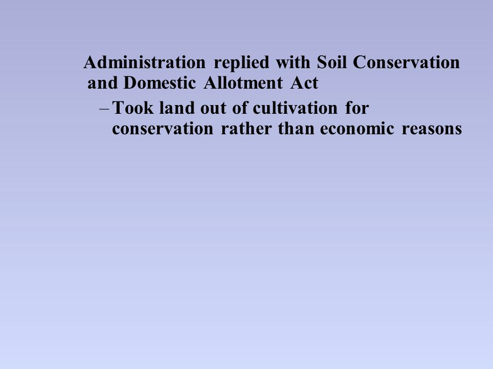 The new deal 1933 ppt download for Soil conservation act