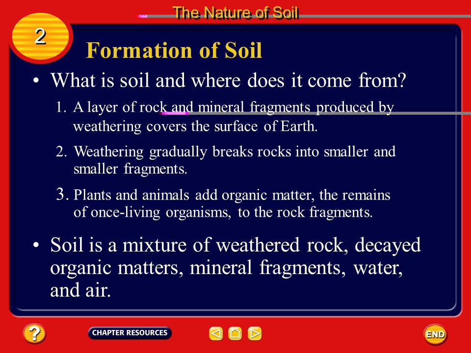 Chapter weathering and soil ppt video online download for Explain the formation of soil