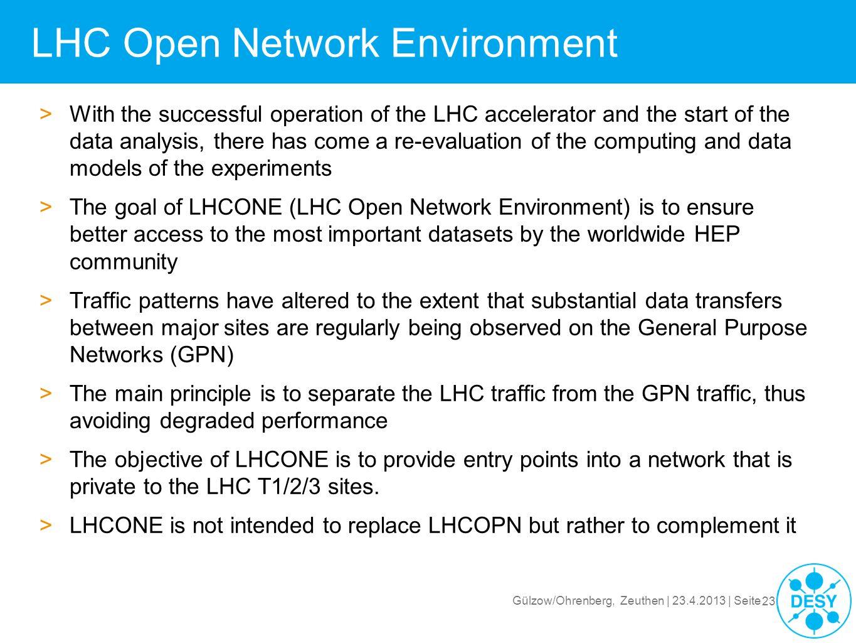 LHC Open Network Environment