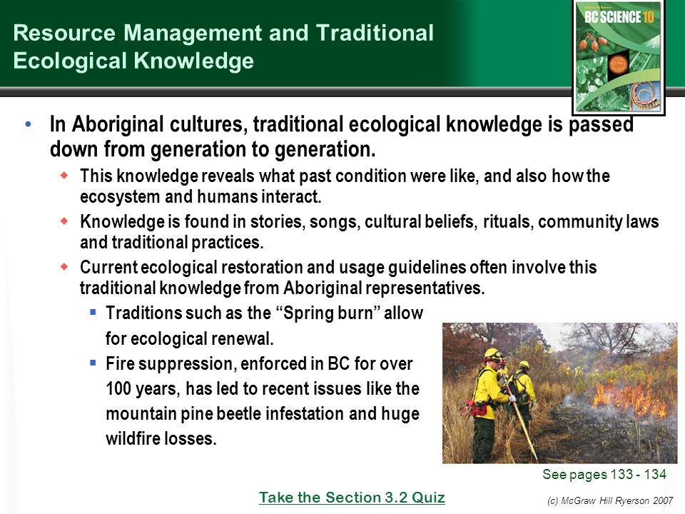 traditional ecological knowledge Interdisciplinary stewardship of mother earth  for those interested in considering both traditional knowledge and western science  traditional ecological .