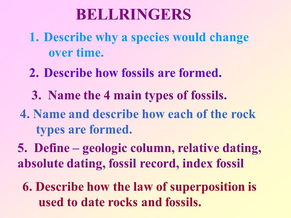 What Does Relative Dating Tell You About Fossil A