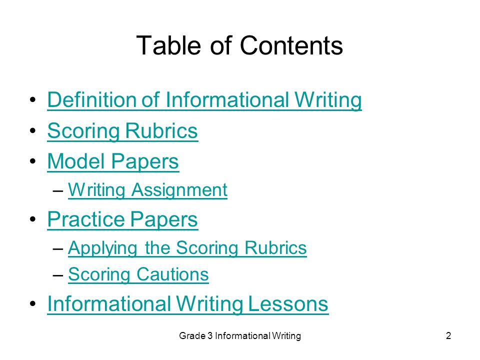 Informational writing definition