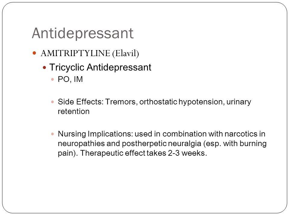 Amitriptyline Side Effects Libido