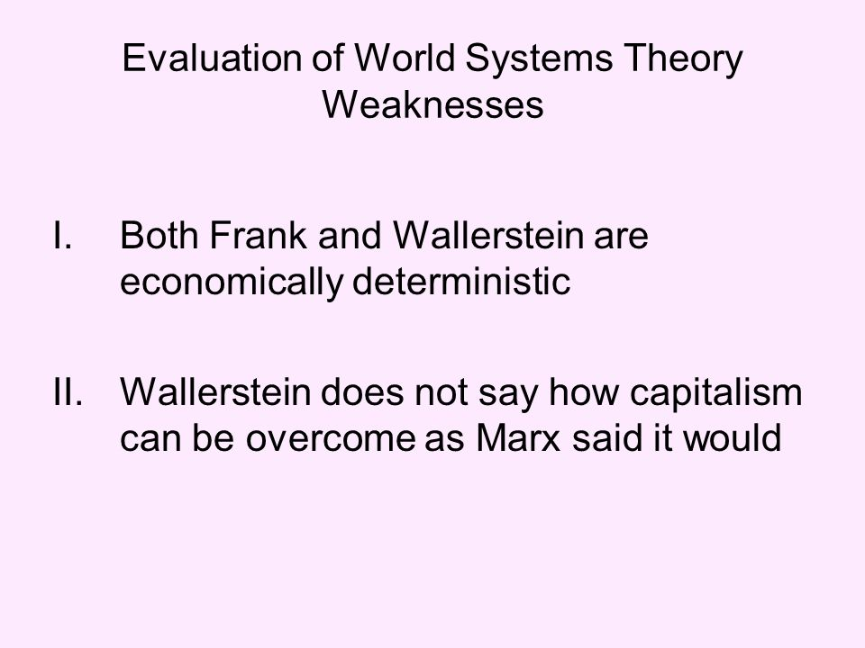 system theory strength and weaknesses The weakness of strength theory - the book of life is the 'brain' of the school of life, a gathering of the best ideas around wisdom and emotional intelligence.