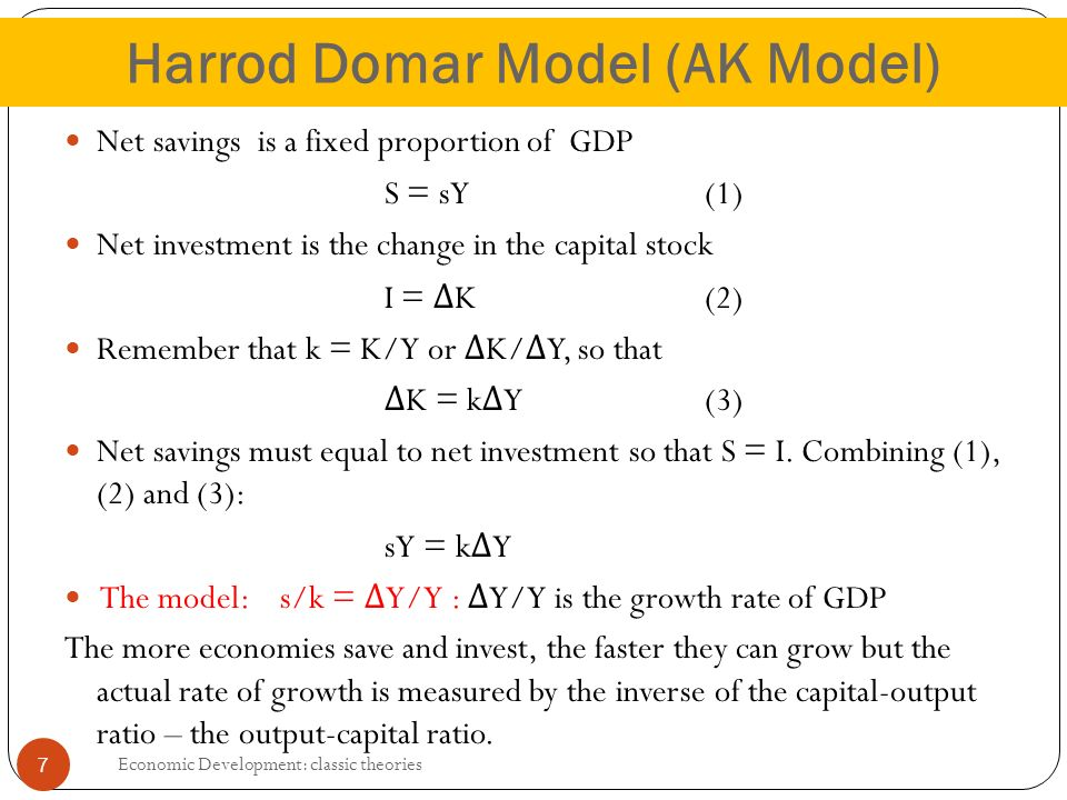 essays in the theory of economic growth domar Despite its simplicity, the solow growth model is a dynamic general equilibrium model (though, importantly, many key features of dynamic general equilibrium models emphasized in chapter 5, such as preferences and dynamic optimization, are missing in this model.
