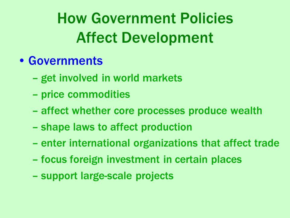 Government and policies