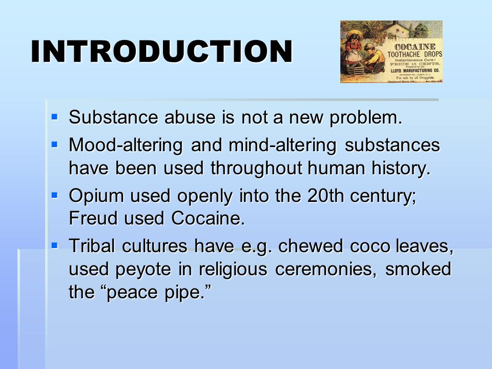 an introduction to the issue of drugs The kenya government has recognised the seriousness of the drug problem and   introduction  drug and alcohol abuse and related anti-social behaviour.