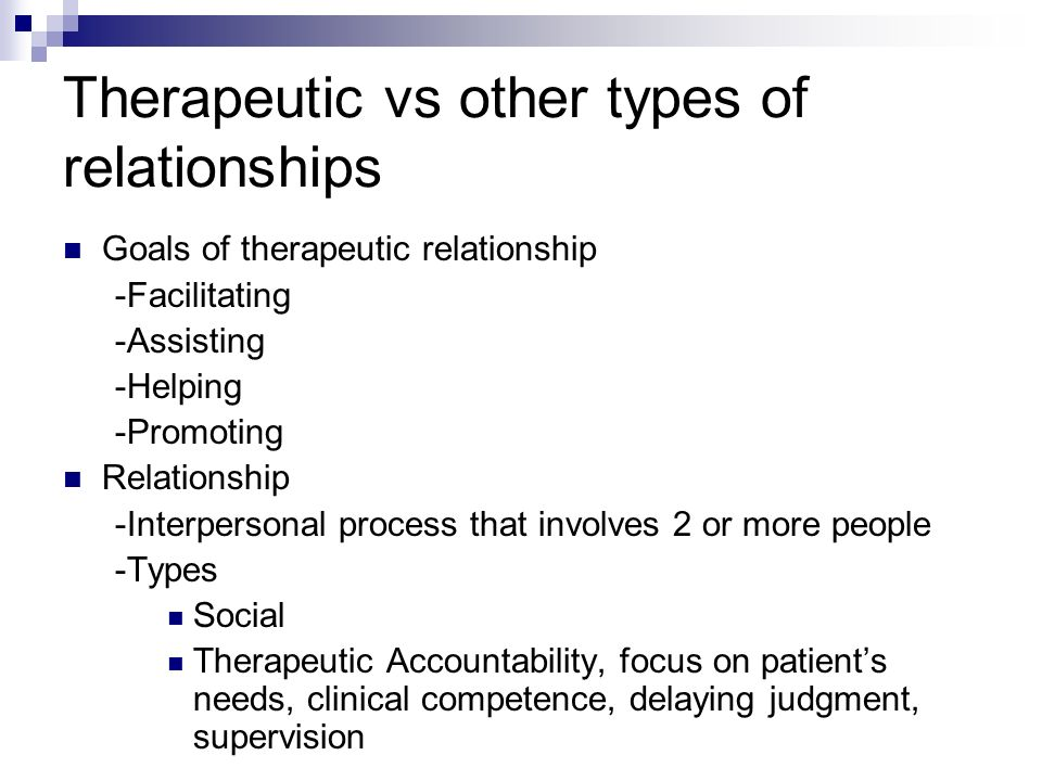 essay in theraputic relationship Free essay: a therapeutic relationship is a key component in the nursing profession without therapeutic relationships, the best possible care can never be provided the foundation in which trust is built upon is created from the nurse's ability to truly listen and respond appropriately.